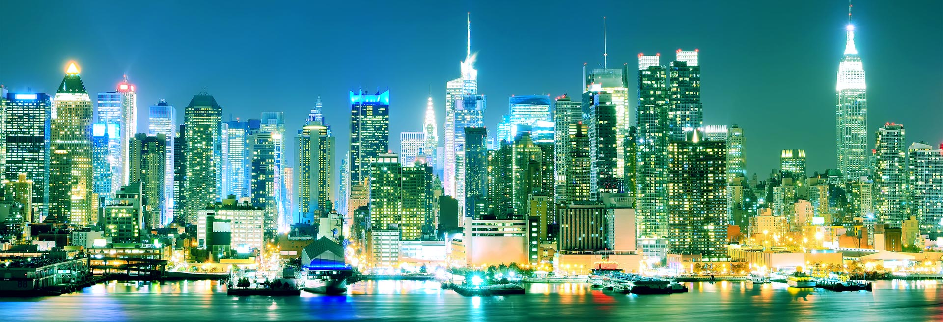 photo of NYC at night